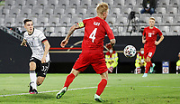 2nd June 2021, Tivoli Stadion, Innsbruck, Austria; International football friendy, Germany versus Denmark;  Goal scored for 1-0 by Neuhaus  of Germany