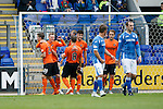 St Johnstone v Dundee United...26.09.15  SPFL   McDiarmid Park, Perth<br /> Billy McKay celebrates his penalty<br /> Picture by Graeme Hart.<br /> Copyright Perthshire Picture Agency<br /> Tel: 01738 623350  Mobile: 07990 594431