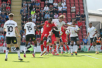 Vani Da Silva of Oldham Athletic goes close during Leyton Orient vs Oldham Athletic, Sky Bet EFL League 2 Football at The Breyer Group Stadium on 11th September 2021
