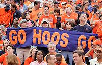 Virginia Cavalier fans at the University of Virginia in Charlottesville, VA. Photo/Andrew Shurtleff.