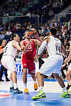 Real Madrid and Crvena Zvezda Telekom during Euroligue Basketball at Barclaycard Center in Madrid, October 22, 2015<br /> Guduric and Gustavo Ayon.<br /> (ALTERPHOTOS/BorjaB.Hojas)