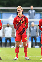 Belgian Ibe Hautekiet pictured during a friendly soccer game between the national teams Under19 Youth teams of Belgium and Germany on tuesday 8 th of September 2020  in Genk , Belgium . PHOTO SPORTPIX.BE | SPP | DAVID CATRY