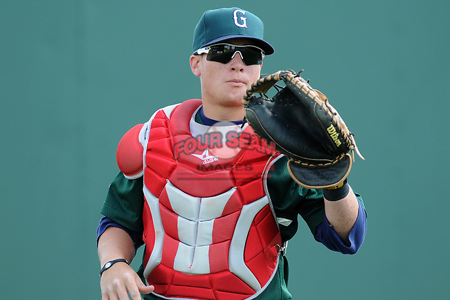 Photo of the Greenville Drive, Class A affiliate of the Boston Red Sox, at a game against the Lexington Legends April 25, 2010, at Fluor Field at the West End in Greenville, S.C. Photo by: Tom Priddy/Four Seam Images
