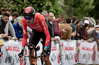 Wout Poels (NED/Bahrain - Victorious)<br /> <br /> Stage 5 (ITT): Time Trial from Changé to Laval Espace Mayenne (27.2km)<br /> 108th Tour de France 2021 (2.UWT)<br /> <br /> ©kramon