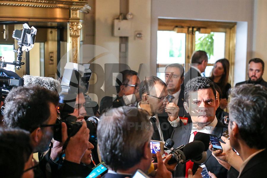 NOVA YORK, EUA, 16.05.2018 - MORO-EUA - O juiz federal Sérgio Moro durante o Lide Brazilian Investment Forum no Hotel The Pierre na ilha de Manhattan em Nova York nos Estados Unidos nesta quarta-feira, 16.  (Foto: William Volcov/Brazil Photo Press)