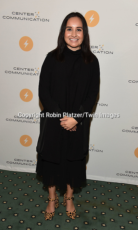 Savannah Vizzerra attends the Center for Communications Frank Stanton Annual Award Luncheon on November 2, 2017 at the Pierre Hotel in New York, New York, USA.<br /> <br /> photo by Robin Platzer/Twin Images<br />  <br /> phone number 212-935-0770