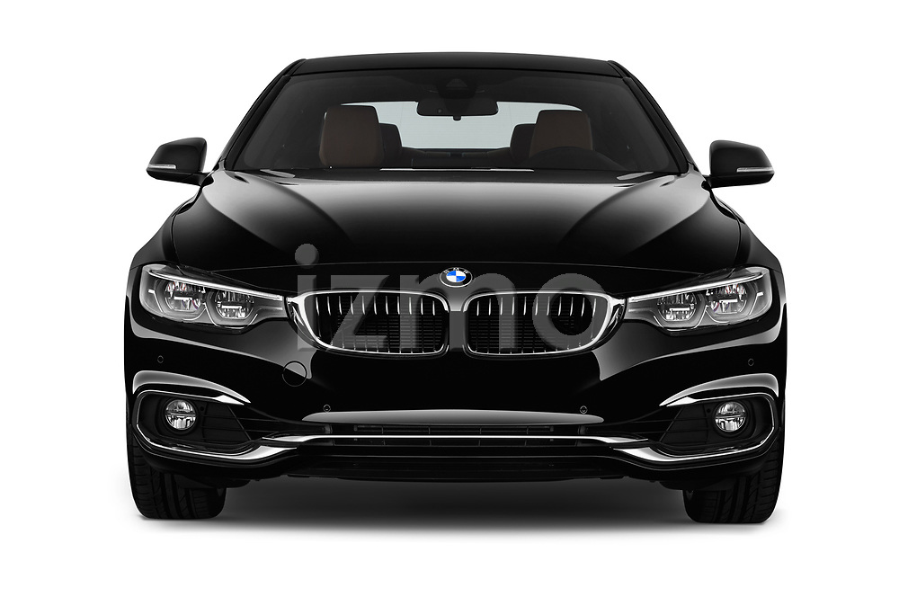Car photography straight front view of a 2018 BMW 4 Series Luxury 4 Door Coupe
