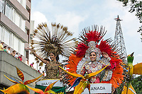 "MANIZALES-COLOMBIA. 07-01-2016: ""Desfile de las Naciones"" con la participación de las candidatas al Reinado del Café y comparsas con bailarines y músicos como parte de la versión número 60 de La Feria de Manizales 2016 que se lleva a cabo entre el 2 y el 10 de enero de 2016 en la ciudad de Manizales, Colombia. / ""Nations Parade"" with the participation of the candidates for Queen of Coffee and dancers and musicians as part of the 60th version of Manizales Fair 2016 takes place between 2 and 10 January 2016 in the city of Manizales, Colombia. Photo: VizzorImage / Kevin Toro / Cont"