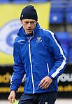 St Johnstone Training...21.05.21<br />Murray Davidson pictured during training at McDiarmid Park this morning ahead of tomorrow's Scottish Cup Final against Hibs.<br />Picture by Graeme Hart.<br />Copyright Perthshire Picture Agency<br />Tel: 01738 623350  Mobile: 07990 594431