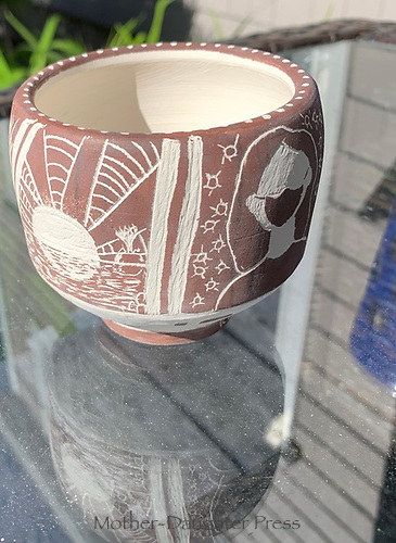 """""""A New Day"""" Pottery by Kathryn Keaney, Grade 11, Yarmout, ME, USA"""