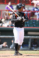 April 15th 2008:  Outfielder Wilkin Ramirez (33) of the Erie Seawolves, Class-AA affiliate of the Detroit Tigers, during a game at Jerry Uht Park in Erie, PA.  Photo by:  Mike Janes/Four Seam Images