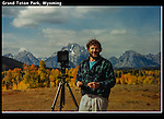 John and view camera in Grand Teton National Park, Wyoming.