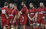 A dejected Wales lock Alun Wyn Jones at the final whistle.<br /> Dove men Series 2014<br /> Wales v New Zealand<br /> 22.11.14<br /> ©Steve Pope -SPORTINGWALES