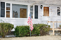American flag in front yard - Concord, NH - 6 Apr 2019