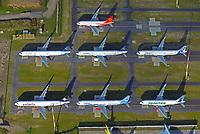 Airbus A320 Familie  in Hamburg Finkenwerder: EUROPA, DEUTSCHLAND, HAMBURG, FINKENWERDER, (EUROPE, GERMANY), 33.10.2017:  Airbus A320 Familie  in Hamburg Finkenwerder