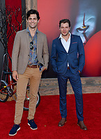 "LOS ANGELES, USA. August 27, 2019: Matt Daddario & Dominic Sherwood at the premiere of ""IT Chapter Two"" at the Regency Village Theatre.<br /> Picture: Paul Smith/Featureflash"