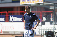 24th April 2021; Dens Park, Dundee, Scotland; Scottish Championship Football, Dundee FC versus Raith Rovers; Paul McGowan of Dundee during the warm up before the match