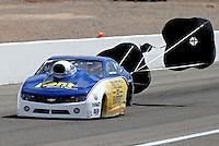 Apr. 6, 2013; Las Vegas, NV, USA: NHRA pro stock driver Rodger Brogdon during the K&N Horsepower Challenge during qualifying for the Summitracing.com Nationals at the Strip at Las Vegas Motor Speedway. Mandatory Credit: Mark J. Rebilas-