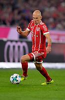 22.09.2017,  Football 1.Liga 2017/2018, 6. match day, FC Bayern Muenchen - VfL Wolfsburg, in Allianz-Arena Muenchen. Arjen Robben (FC Bayern Muenchen) . *** Local Caption *** © pixathlon<br /> <br /> +++ NED + SUI out !!! +++<br /> Contact: +49-40-22 63 02 60 , info@pixathlon.de