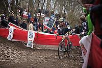 Toon Aerts (BEL/Telenet-Fidea) leading the race<br /> <br /> Soudal Classic Leuven 2016