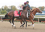 Go Unbridled, ridden by Joel Rosario, runs in the Beldame Invitational Stakes (GI) at Belmont Park in Elmont, New York on September 29, 2012.  (Bob Mayberger/Eclipse Sportswire)