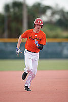Noah Burns (69), from Hoover, Alabama, while playing for the Orioles during the Baseball Factory Pirate City Christmas Camp & Tournament on December 29, 2017 at Pirate City in Bradenton, Florida.  (Mike Janes/Four Seam Images)
