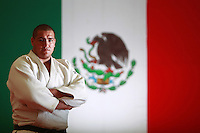 Mexican judo athlete Ramon Flores poses for a photo during a photo session at CONADE on May 4, 2011 in Mexico City, Mexico.