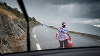 just as the riders are about to hit the Col de la Faye, a short, intens storm rolls in... <br /> <br /> Stage 3 from Nice to Sisteron (198km)<br /> <br /> 107th Tour de France 2020 (2.UWT)<br /> (the 'postponed edition' held in september)<br /> <br /> ©kramon