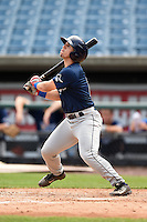 Elih Marrero (2) of Coral Gables Senior High School in Miami, Florida playing for the Tampa Bay Rays scout team during the East Coast Pro Showcase on July 31, 2014 at NBT Bank Stadium in Syracuse, New York.  (Mike Janes/Four Seam Images)
