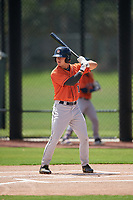 GCL Astros Colin Barber (15) at bat during a Gulf Coast League game against the GCL Nationals on August 9, 2019 at FITTEAM Ballpark of the Palm Beaches training complex in Palm Beach, Florida.  GCL Nationals defeated the GCL Astros 8-2.  (Mike Janes/Four Seam Images)