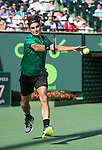March 30 2017:  Roger Federer (SUI) defeats Tomas Berdych (CZE) by 6-2, 3-6, 7-6, at the Miami Open being played at Crandon Park Tennis Center in Miami, Key Biscayne, Florida.