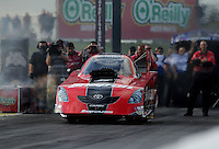 May 20, 2011; Topeka, KS, USA: NHRA funny car driver Cruz Pedregon during qualifying for the Summer Nationals at Heartland Park Topeka. Mandatory Credit: Mark J. Rebilas-