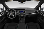 Stock photo of straight dashboard view of 2022 Cadillac XT5 Premium-Luxury-2.0L-FWD 5 Door suv Dashboard