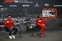 Motorsports: FIA Formula One World Championship, WM, Weltmeisterschaft 2020, Grand Prix of Belgium Motorsports: FIA Formula One World Championship 2020, Grand Prix of Belgium, 16 Charles Leclerc MCO, Scuderia Ferrari Mission Winnow, 5 Sebastian Vettel GER, Scuderia Ferrari Mission Winnow
