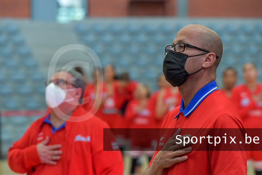 Gerardo Batista pictured before a basketball game between Nigeria and Puerto Rico on Friday 28 th of May 2021 in Kortrijk , Belgium . PHOTO SPORTPIX.BE   SPP   STIJN AUDOOREN