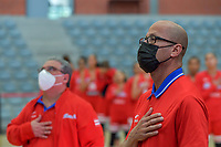 Gerardo Batista pictured before a basketball game between Nigeria and Puerto Rico on Friday 28 th of May 2021 in Kortrijk , Belgium . PHOTO SPORTPIX.BE | SPP | STIJN AUDOOREN