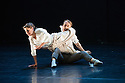 """London, UK. 15.04.2014. HeadSpaceDance present IF PLAY IS PLAY..., a triple bill of new work, in the Linbury Studio, Royal Opera House, London. Picture shows: Clemmie Sveaas and Christopher Akrill, in """"Before the Interval"""".  Photograph © Jane Hobson."""