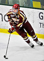 10 February 2012: Boston College Eagles defenseman Tommy Cross, a Senior from Simsbury, CT, in action against the University of Vermont Catamounts at Gutterson Fieldhouse in Burlington, Vermont. The Eagles defeated the Catamounts 6-1 in their Hockey East matchup. Mandatory Credit: Ed Wolfstein Photo