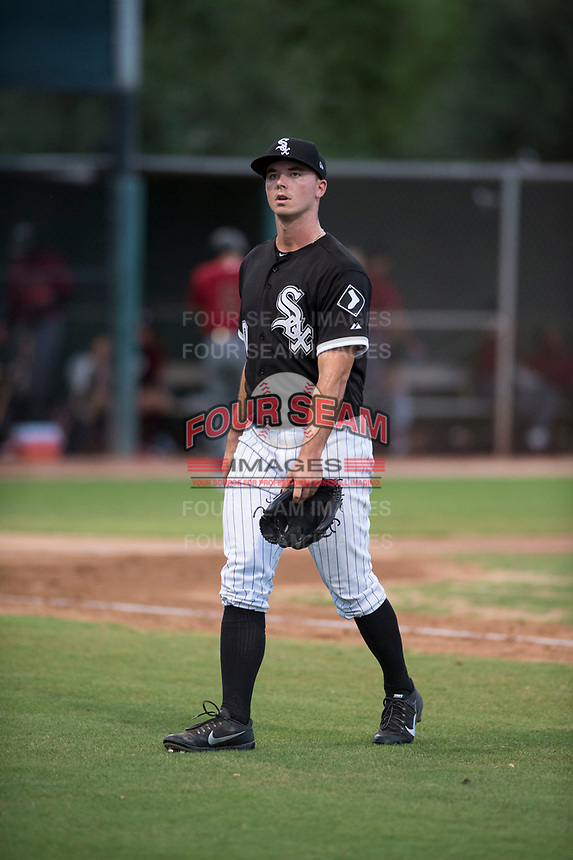 AZL White Sox starting pitcher Ian Clarkin (60) walks off the field between innings of a rehab start during an Arizona League game against the AZL Diamondbacks at Camelback Ranch on July 12, 2018 in Glendale, Arizona. The AZL Diamondbacks defeated the AZL White Sox 5-1. (Zachary Lucy/Four Seam Images)