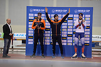 SPEEDSKATING: SALT LAKE CITY: Utah Olympic Oval, 10-03-2019, ISU World Cup Finals, Podium 1500m Men, Thomas Krol (NED), Kjeld Nuis (NED), Denis Yuskov (RUS), ©Martin de Jong