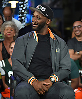 "MIAMI BEACH, FL - JANUARY 28: Reggie Wayne discusses Fox Sports ""The ReUnion"" at the Fox Sports South Beach studio during Super Bowl LIV week on January 29, 2020 in Miami Beach, Florida. (Photo by Frank Micelotta/Fox Sports/PictureGroup)"