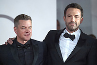 Matt Damon and Ben Affleck attending The Last Duel Premiere as part of the 78th Venice International Film Festival in Venice, Italy on September 10, 2021. <br /> CAP/MPIIS<br /> ©MPIIS/Capital Pictures