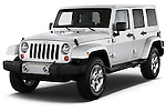 Jeep Wrangler Sahara Unlimited  2013 Angular Front Stock Photo