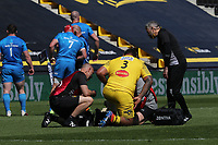 2nd May 2021; Stade Marcel-Deflandre, La Rochelle, France. European Champions Cup Rugby La Rochelle versus  Leinster Semi-Final;  UINI ATONIO of La Rochelle is given medical attention