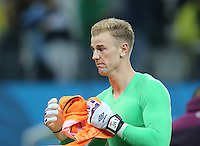 England Gpalkeeper Joe Hart in tears after 2-1 defeat