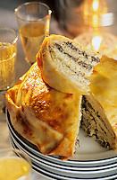 """Europe-Asie/Russie/Saint-Petersbourg: Pâté de crêpes aux trois farces - Recette du restaurant """"Turkou"""""""