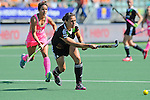 The Hague, Netherlands, June 06: Tina Bachmann #2 of Germany passes the ball during the field hockey group match (Women - Group B) between Germany and Argentina on June 6, 2014 during the World Cup 2014 at Kyocera Stadium in The Hague, Netherlands. Final score 0-3 (0-2) (Photo by Dirk Markgraf / www.265-images.com) *** Local caption ***