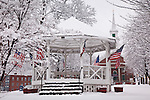 Patriotic Bandstand in Fitchburg, MA, USA