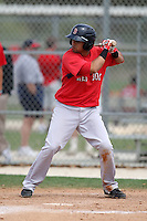 March 18, 2010:  Second Baseman Kenny Roque (3) of the Boston Red Sox organization during Spring Training at Ft.  Myers Training Complex in Fort Myers, FL.  Photo By Mike Janes/Four Seam Images