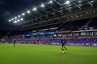 ORLANDO, FL - FEBRUARY 24: Casey Krueger #2 of the USWNT warms up before a game between Argentina and USWNT at Exploria Stadium on February 24, 2021 in Orlando, Florida.